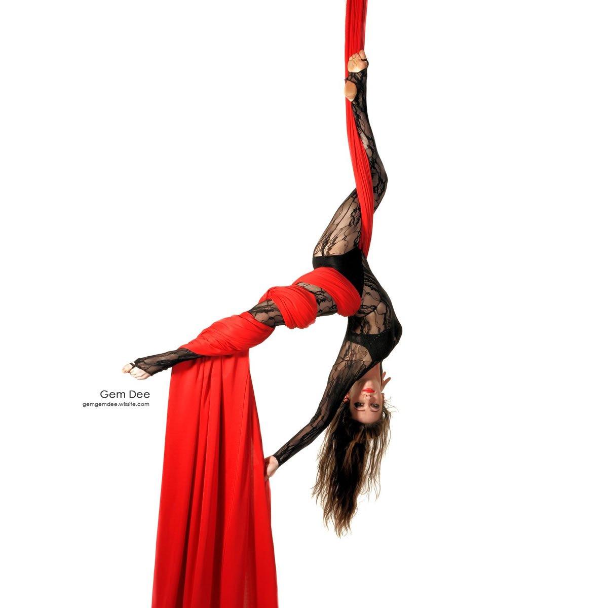 Firetoys Aerial Silk (Aerial Fabric Fabric (Aerial / Tissus) - ROT-10 metres 2028ac