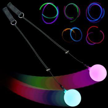 Firetoys Slow Fade Multi-Coloured LED Glow Poi - Light Up Poi