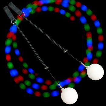 Firetoys Strobing Multi-Coloured LED Glow Poi - Light Up Poi