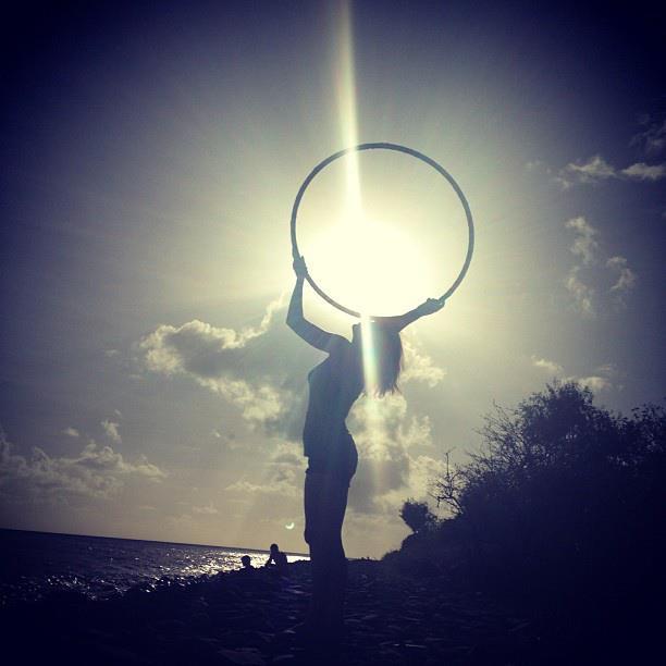 Sunshine hula hoop. Copyright Brad Roy Photography