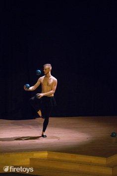 Tom Derrick's balletic routine in the British Show