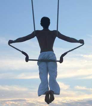 Trapeze can help you get over the bar. Copyright José Ruiz
