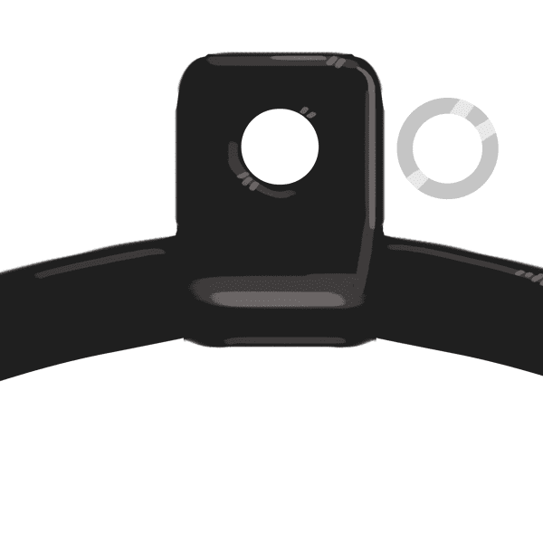 Aerial hoop eye with tubing