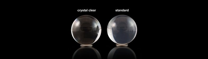 Crystal clear contact juggling ball vs standard clear contact juggling ball