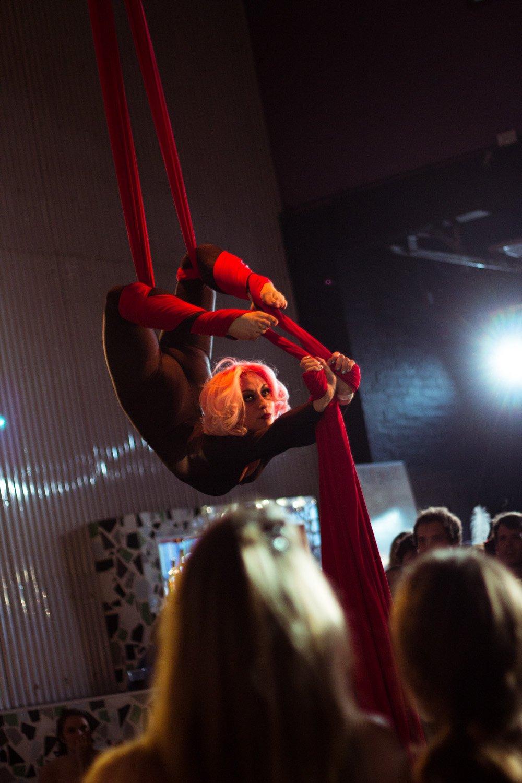 Copyright Zoe Posnette. Runner Up in Firetoys Aerial Competition. Aerial Silks.